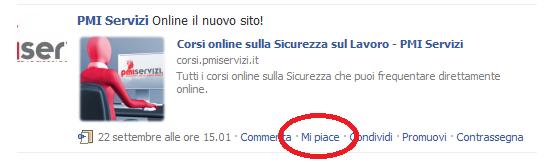 "Tasto ""mi piace"" su Facebook"