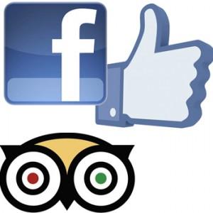 mostra in facebook le recensioni e le foto di TripAdvisor