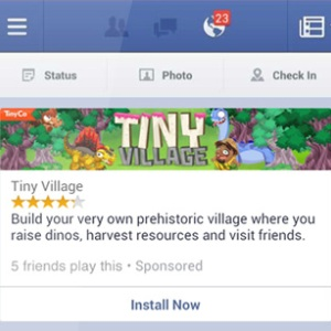 pubblicità Facebook applicazioni