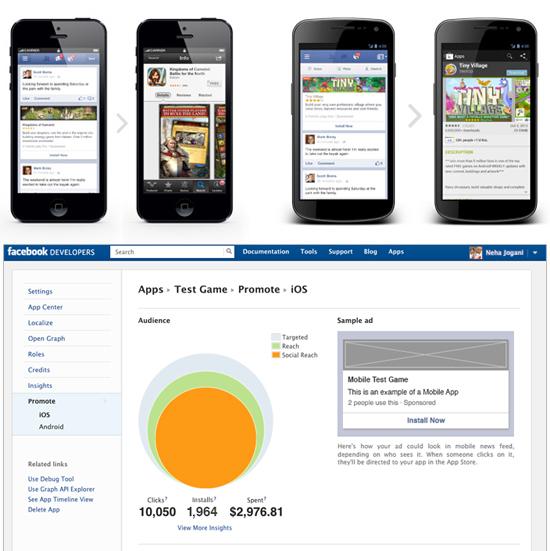 Pubblicità Facebook per app