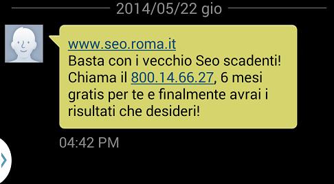 SMS da SEO Roma