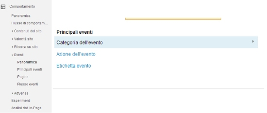 eventi su google analytics
