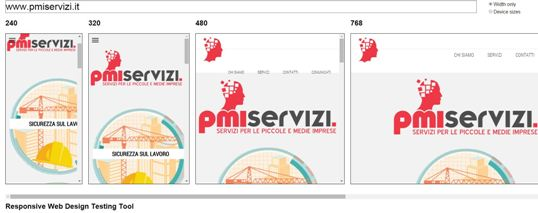 responsive web design test pmi servizi