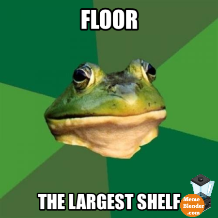 foul bachelor frog floor the largest shelf