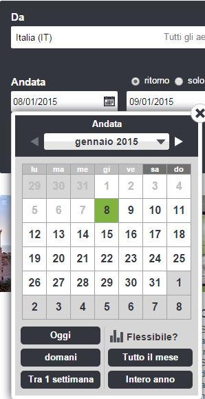 calendario siti viaggio
