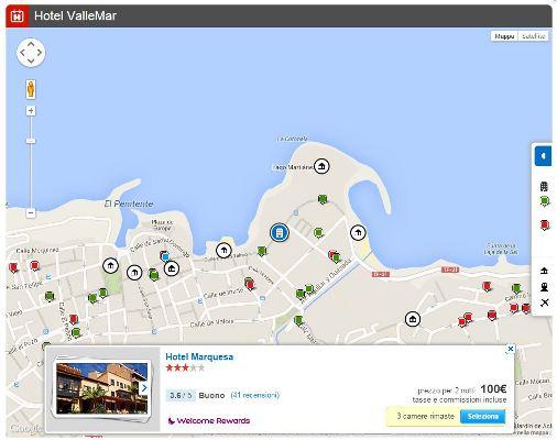 mappa siti viaggio
