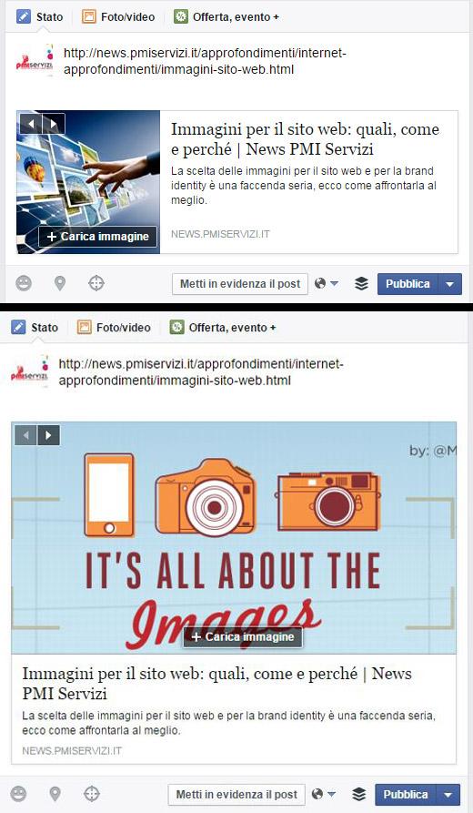 immagini ottimizzate facebook