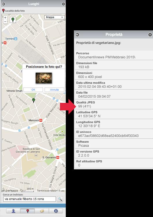 geotagging immagini picasa