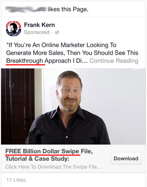 facebook ads spam