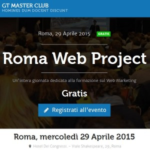 Banner Roma Web Project evento