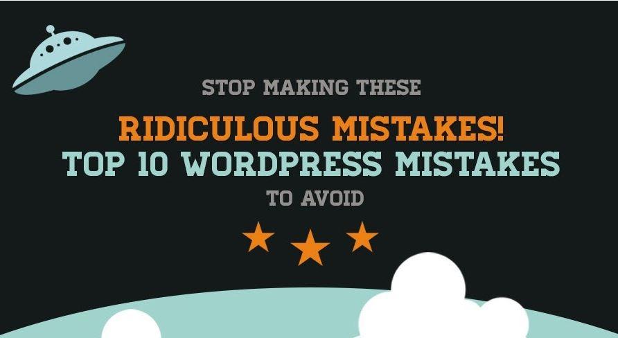 infografica errori stupidi wordpress