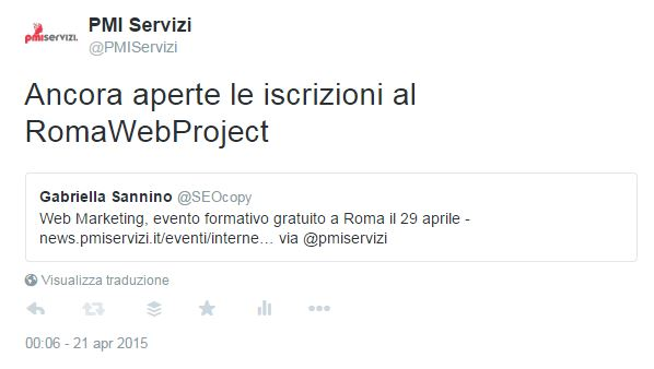 twitter retweet commento embed