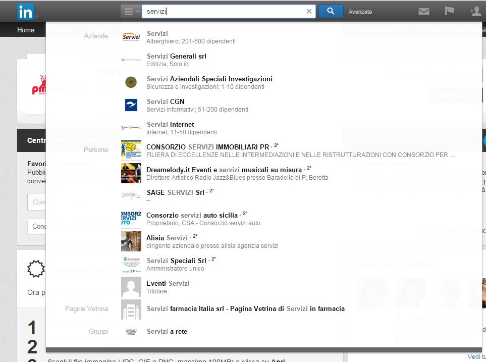 linkedin-ricerca-servizi